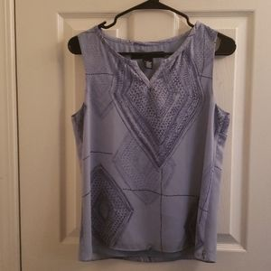 Jones Wear Blue Sleeveless Blouse Size 4